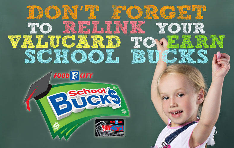 don't forget to relink your valucard to earn school bucks